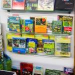 Verschiede Bücher für den Gartenteich