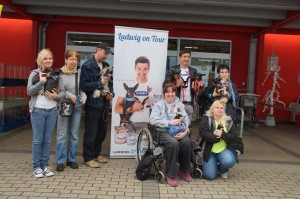Tom Fritsch mit Fanclub