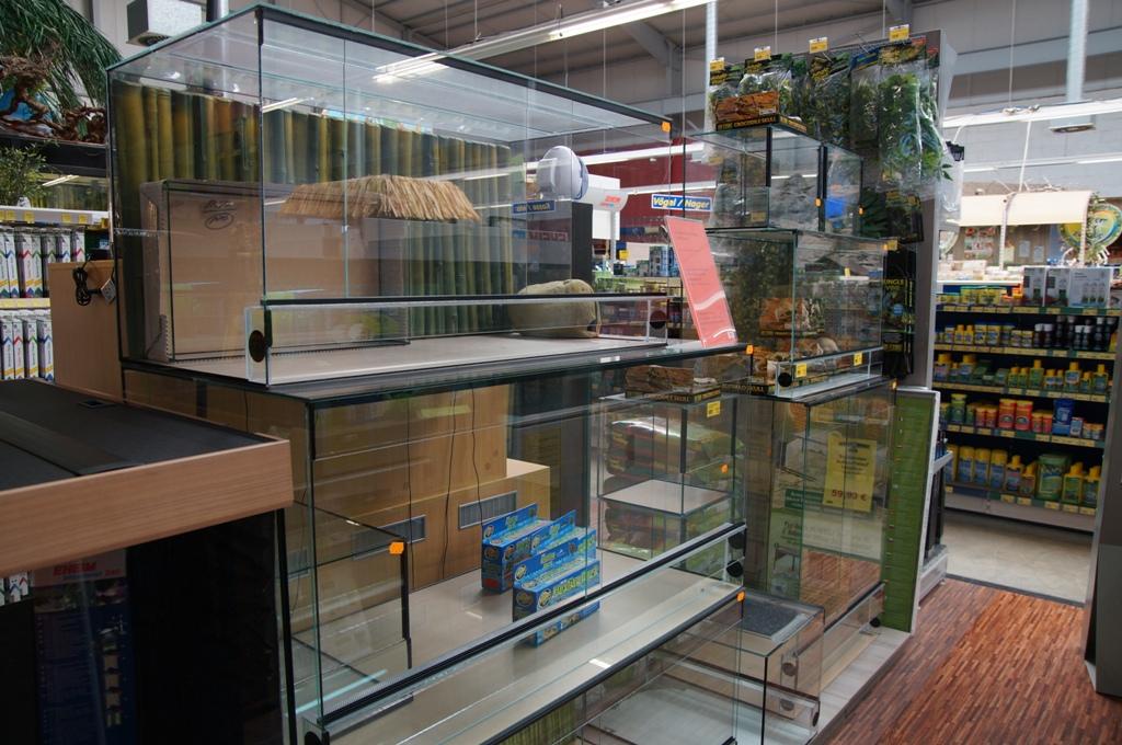 Reptilienabteilung Terrarien