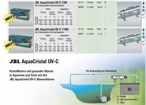 Verschiedene UVC Wasserklärer